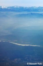 日高の山々と二風谷ダム