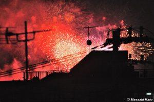 撮影:2013年7月20日 「足立の花火」/足立区内の自宅屋上より
