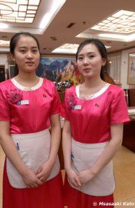北朝鮮レストランの従業員 撮影:2007年9月7日