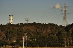 国道6号線から見える福島第二原発 4月13日 富岡町