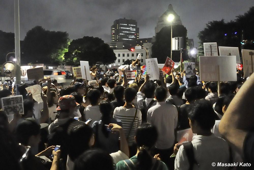 SEALDsを中心とした集会 国会前 2015年7月16日