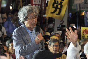 ジャーナリスト・鎌田慧氏 国会前 2015年9月18日