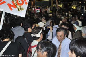 共産党・穀田恵二衆議院議員 国会前 2015年9月18日