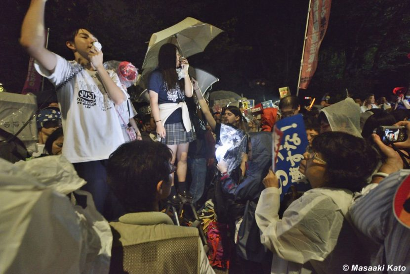 SEALDsを中心とした反対運動 国会前 2015年9月18日