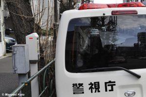 文京区千石の路上 2015年2月27日撮影