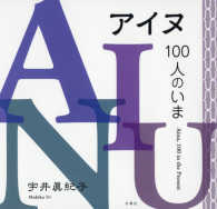 宇井眞紀子さん写真集「アイヌ100人のいま」