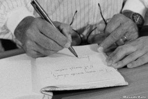 ちょうど「Leonar」まで書いたところ 1985年8月5日撮影