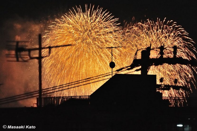 2013年7月20日 「足立の花火」/荒川区内の自宅屋上より