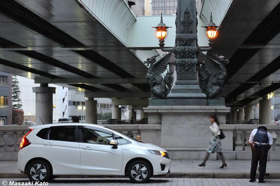 2016年4月22日 日本橋上/道路起点で違反切符を切られる