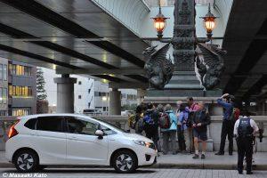 2016年4月22日撮影 日本橋上/道路起点で違反切符を切られる