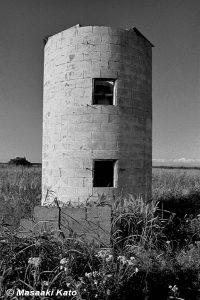 撮影:1976年8月29日 弁天のサイロ 苫東開発の買収で土地を追われた